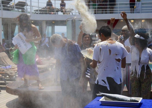 A crossing the equator ceremony on Silver Shadow. © 2014 Ralph Grizzle