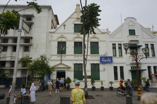 Our shore excursion included admission the Wayang Museum in Jakarta. © 2014 Ralph Grizzle