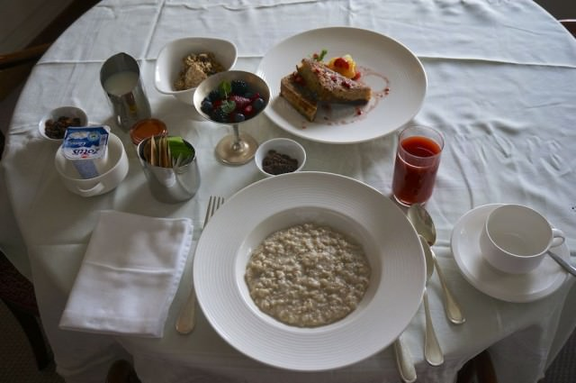 Breakfast served in my suite. © 2014 Ralph Grizzle