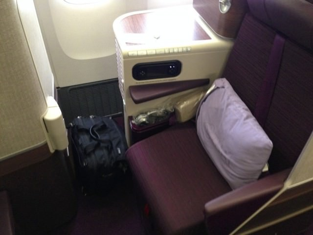 Business Class seat on Thai Airways