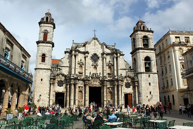 The stunning Cathedral of Havana. Photo courtesy of Wikipedia / Creative Commons