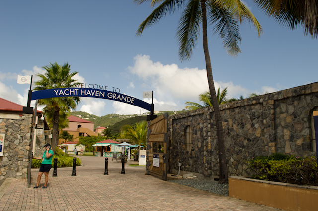 When disembarking your ship, hang a left instead of going straight into the Havensight Mall. You'll come to Yacht Haven Grande - and the oceanfront path into Charlotte Amalie. Photo © 2014 Aaron Saunders