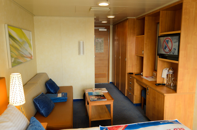The reverse view, facing the stateroom door. This room can accommodate three guests. Photo © 2014 Aaron Saunders