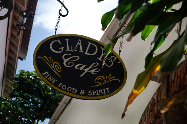 Tucked away in an alley off Waterfront is Gladys' Cafe, where I stopped for a local lunch. Photo © 2014 Aaron Saunders