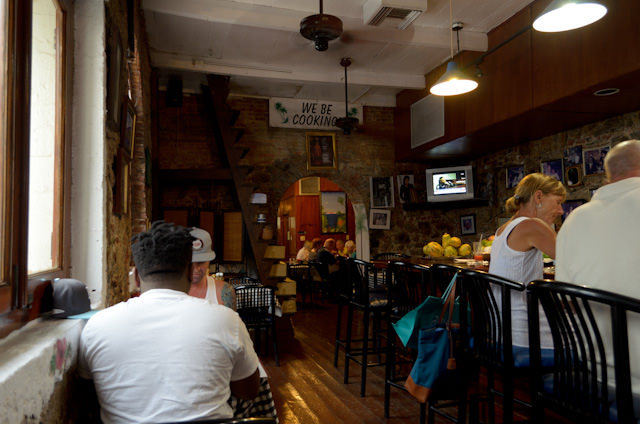 Gladys' Cafe. Turns out it's been featured in Fodors and the New York Times, to name a few. Photo © 2014 Aaron Saunders