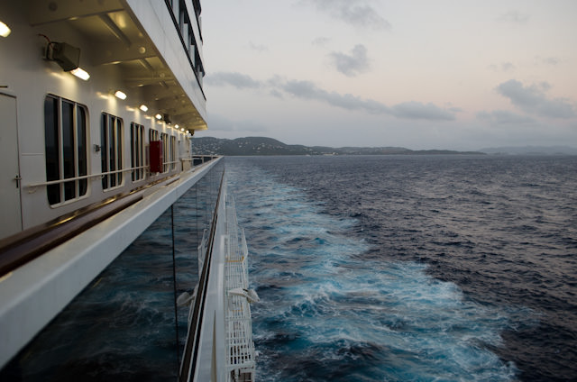 Next stop: Miami, after two more days at sea. Photo © 2014 Aaron Saunders