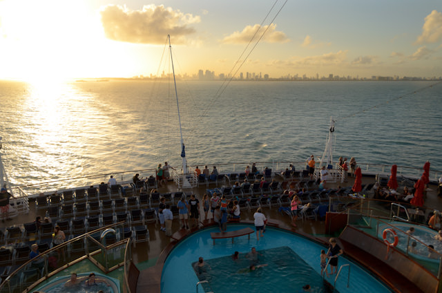 Leaving Miami aboard Carnival Breeze on February 1, 2014. Photo © 2014 Aaron Saunders