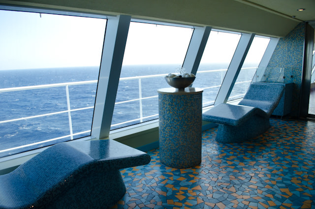 The Lanconium is the second of three Thermal Suites found in the Cloud 9 Spa aboard Carnival Breeze. Photo © 2014 Aaron Saunders