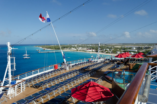 Of course, the vistas from nearly every deck of the Carnival Breeze are magnificent! Photo © 2014 Aaron Saunders