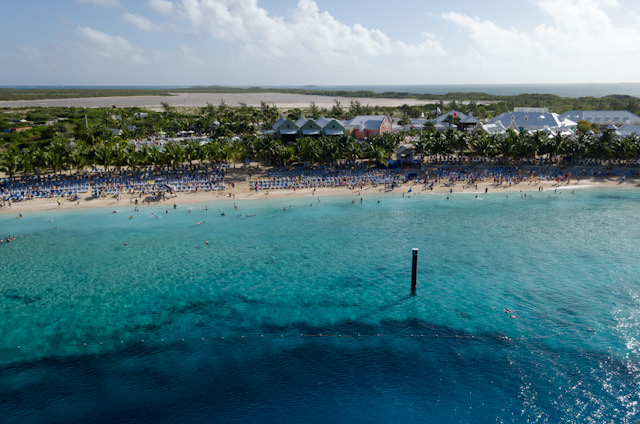 View of Grand Turk from my balcony. The cruise terminal as it exists today was first opened in early 2006. Photo © 2014 Aaron Saunders