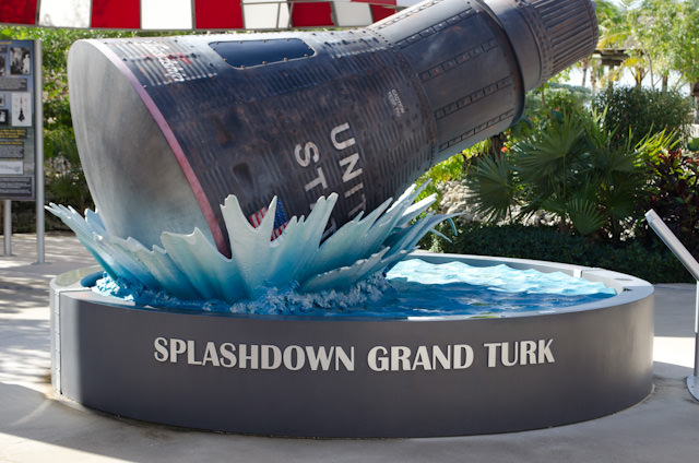 Grand Turk was utilized as a splash-down site for NASA during the Apollo rocket phase. Photo © 2014 Aaron Saunders