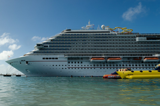 The views of the Carnival Breeze aren't bad, either! Photo © 2014 Aaron Saunders