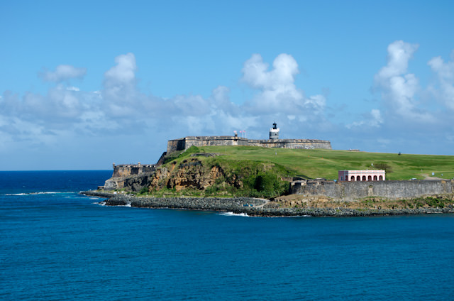 Sailing past El Morro Fortress on the way into San Juan this morning. Photo © 2014 Aaron Saunders