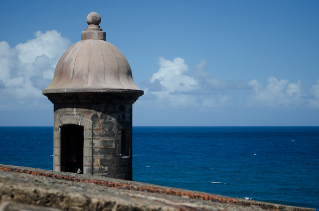 One of the fortresses' many iconic turrets. Photo © 2014 Aaron Saunders