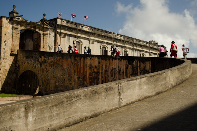 Our primary destinatinon today was the 18th century Fuerte San Cristobal. Photo © 2014 Aaron Saunders