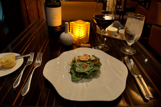 Spinach and blue cheese salad. Photo © 2014 Aaron Saunders