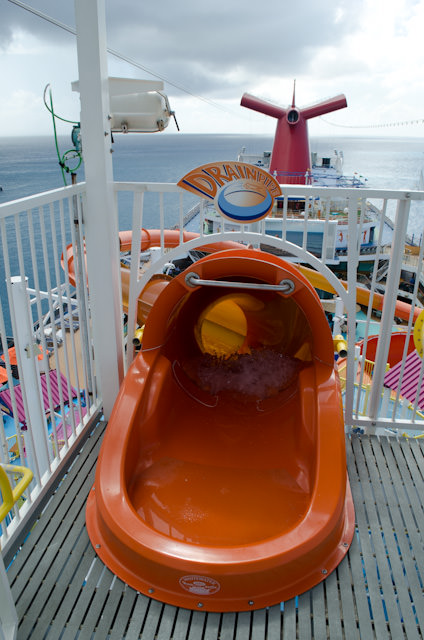 Carnival Breeze boasts two waterslides that are as popular with adults as they are with kids. Photo © 2014 Aaron Saunders