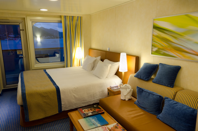 I also took the opportunity to enjoy some time relaxing in my Category 8A Stateroom. Photo © 2014 Aaron Saunders