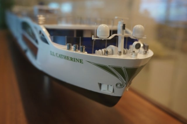 A model presented as a gift from the shipyard that built S.S. Catherine. © 2014 Ralph Grizzle