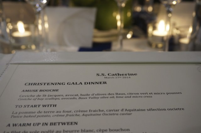Tonight's Gala Dinner included gourmet cuisine and fine French wines. © 2014 Ralph Grizzle