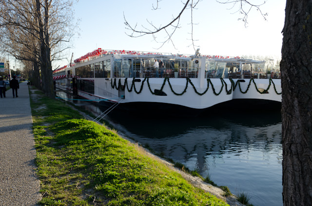 Two of the newest Viking Longships side-by-side in Avignon, France on March 17, 2014. Photo © 2014 Aaron Saunders