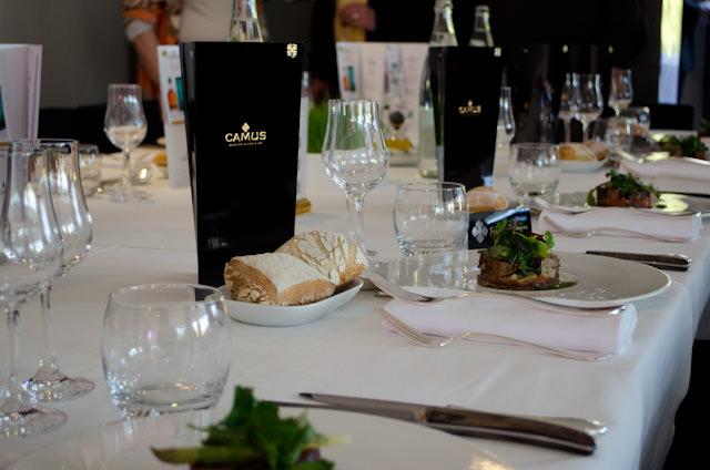 Enjoying a sumptuous four-course lunch, each paired with a different type of CAMUS Cognac. Photo © 2014 Aaron Saunders