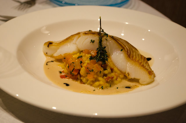 Main courses tonight consisted of fish, Beef Wellington and Potato Gnocchi. Photo © 2014 Aaron Saunders