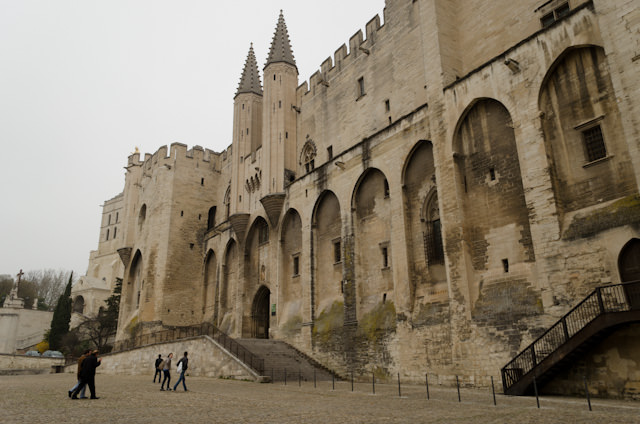 On-tour this morning in beautiful Avignon, France. Shown here is the Palace of the Popes. Photo © 2014 Aaron Saunders