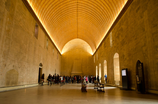 Inside Avignon's imposing Palace of the Popes. Photo © 2014 Aaron Saunders