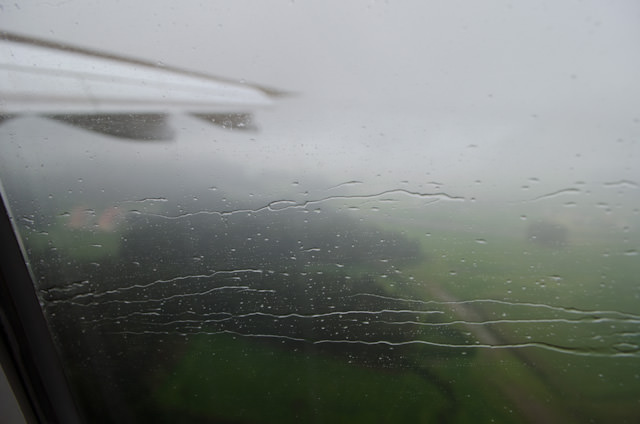 It's a Wet, Wet, Wet World: landing in Porto, Portugal. Photo © 2014 Aaron Saunders