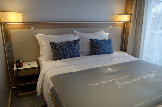 My stateroom, Category A number 313. Photo © 2014 Aaron Saunders