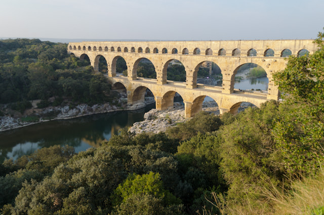 Pont du Gard dates back over 2,000 years and is listed as a UNESCO World Heritage Site. Photo © 2014 Aaron Saunders
