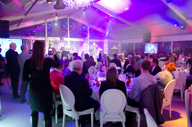 Our evening featured live entertainment - all authentically French-themed. Photo © 2014 Aaron Saunders