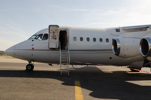 Boarding our private jet at Avignon Regional Airport. Photo © 2014 Aaron Saunders