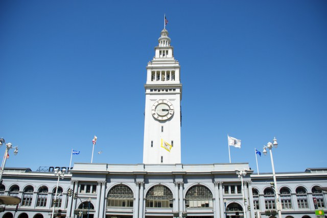 Sitting at the top of Market Street, the world-famous foodie destination, San Francisco's Ferry Building. © 2014 Gail Jessen