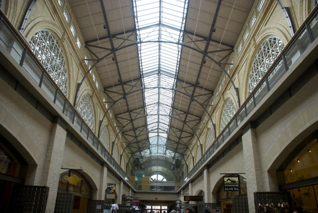 Looking up at the beautiful architecture in San Francisco's Ferry Building. © 2014 Gail Jessen