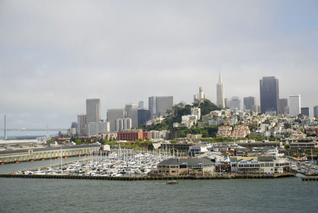 Goodbye, San Francisco. Sailing away...and leaving our hearts. © 2014 Gail Jessen