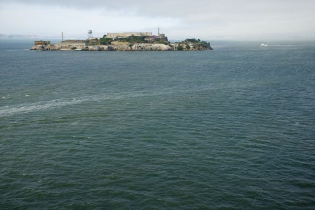 The notorious Alcatraz Island as seen from the Star Princess. © 2014 Gail Jessen