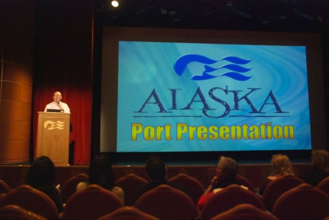 Port Information Talks are an efficient way to feel prepared for your days on shore. © 2014 Gail Jessen