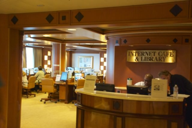 Friendly staff at the Star Princess Internet Cafe, my new home away from home. © 2014 Gail Jessen