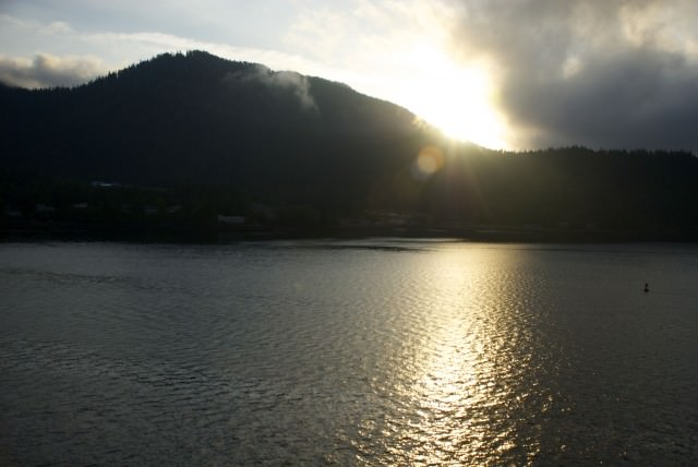 Sunrise over the Tongass National Forest in Ketchikan, Alaska. © 2014 Gail Jessen