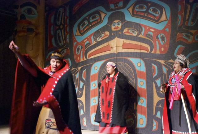 Tlingit dancers share their culture and storytelling traditions. © 2014 Gail Jessen
