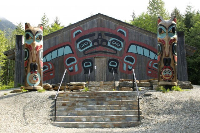 The Tlingit Beaver Clan tribal house in Saxman Village. © 2014 Gail Jessen
