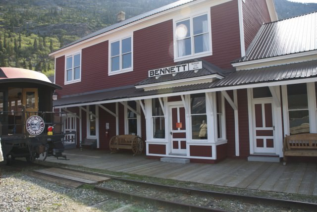 "Bennett Station is now used to serve a delicious ""miner's lunch"" to travelers on the WP&YR trains. © 2014 Gail Jessen"