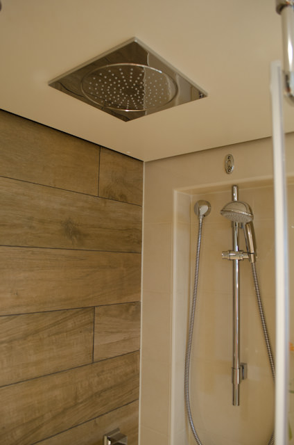 Dual shower heads - take your pick. Photo © 2014 Aaron Saunders