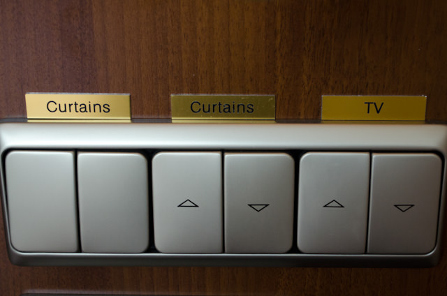 Do you like buttons? You'll love the Loft Staterooms aboard Tauck's ms Inspire. Photo © 2014 Aaron Saunders
