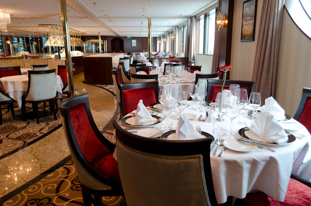 The elegant Restaurant boasts an attractive new colour scheme and a crisp, clean new design. Photo © 2014 Aaron Saunders