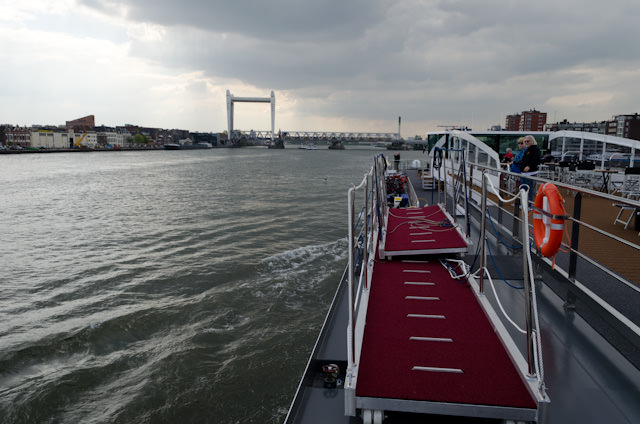 Skies turn ominous as we set out for the Rhine and Veere, Netherlands. Photo © 2014 Aaron Saunders