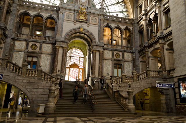 Antwerp Centraal Station rivals train stations in Paris in terms of raw beauty. Photo © 2014 Aaron Saunders