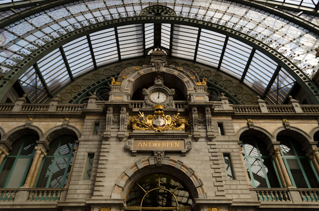 Antwerp, Belgium - as seen from the city's gorgeous Antwerpen Centraal Station, constructed in 1895. Photo © 2014 Aaron Saunders